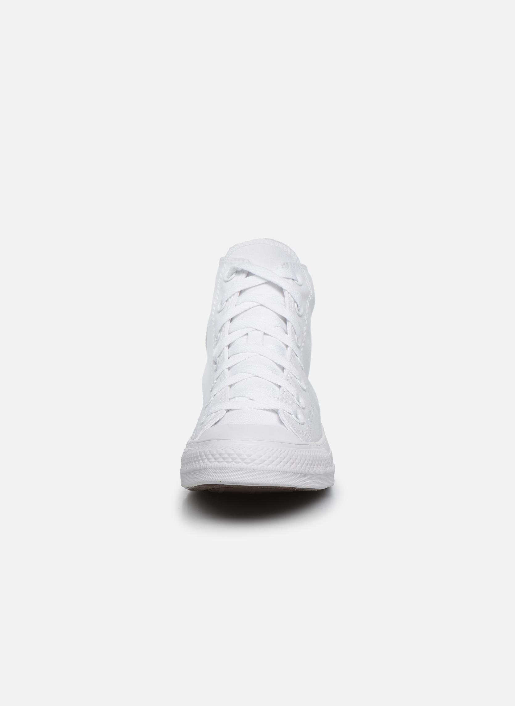 Sneaker Converse Chuck Taylor All Star Monochrome Canvas Hi W weiß schuhe getragen