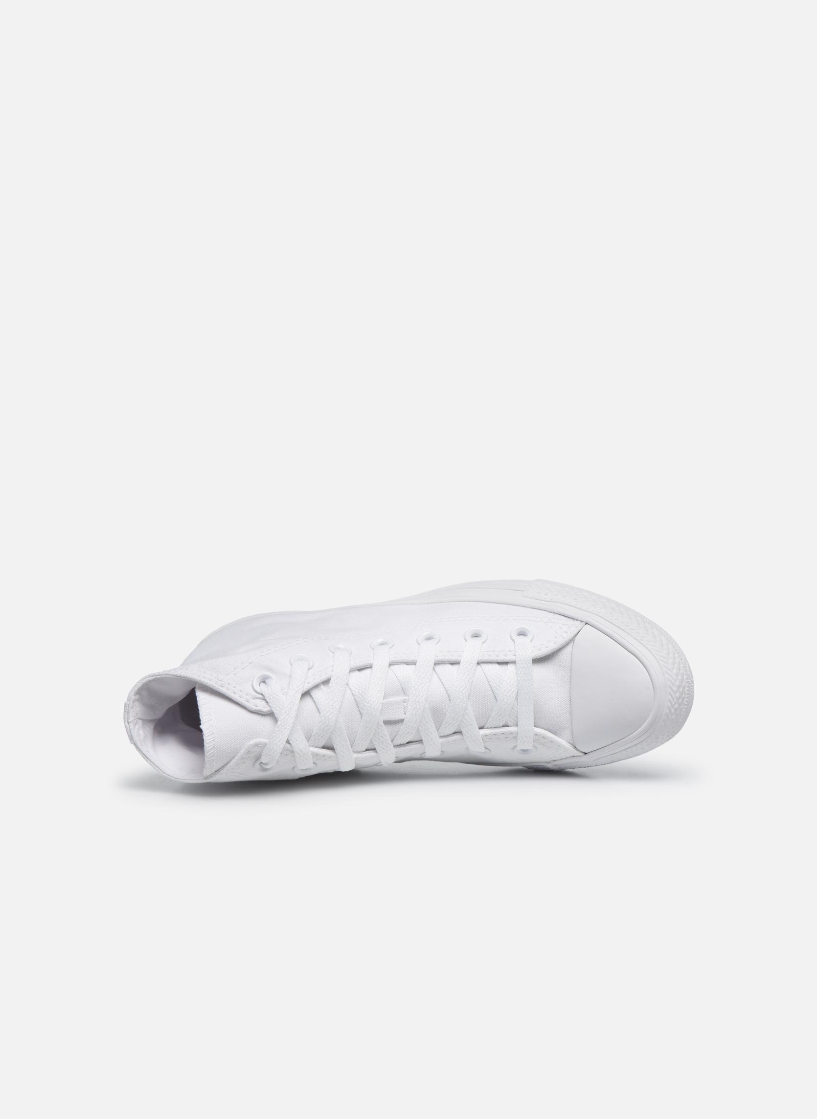 Sneaker Converse Chuck Taylor All Star Monochrome Canvas Hi W weiß ansicht von links