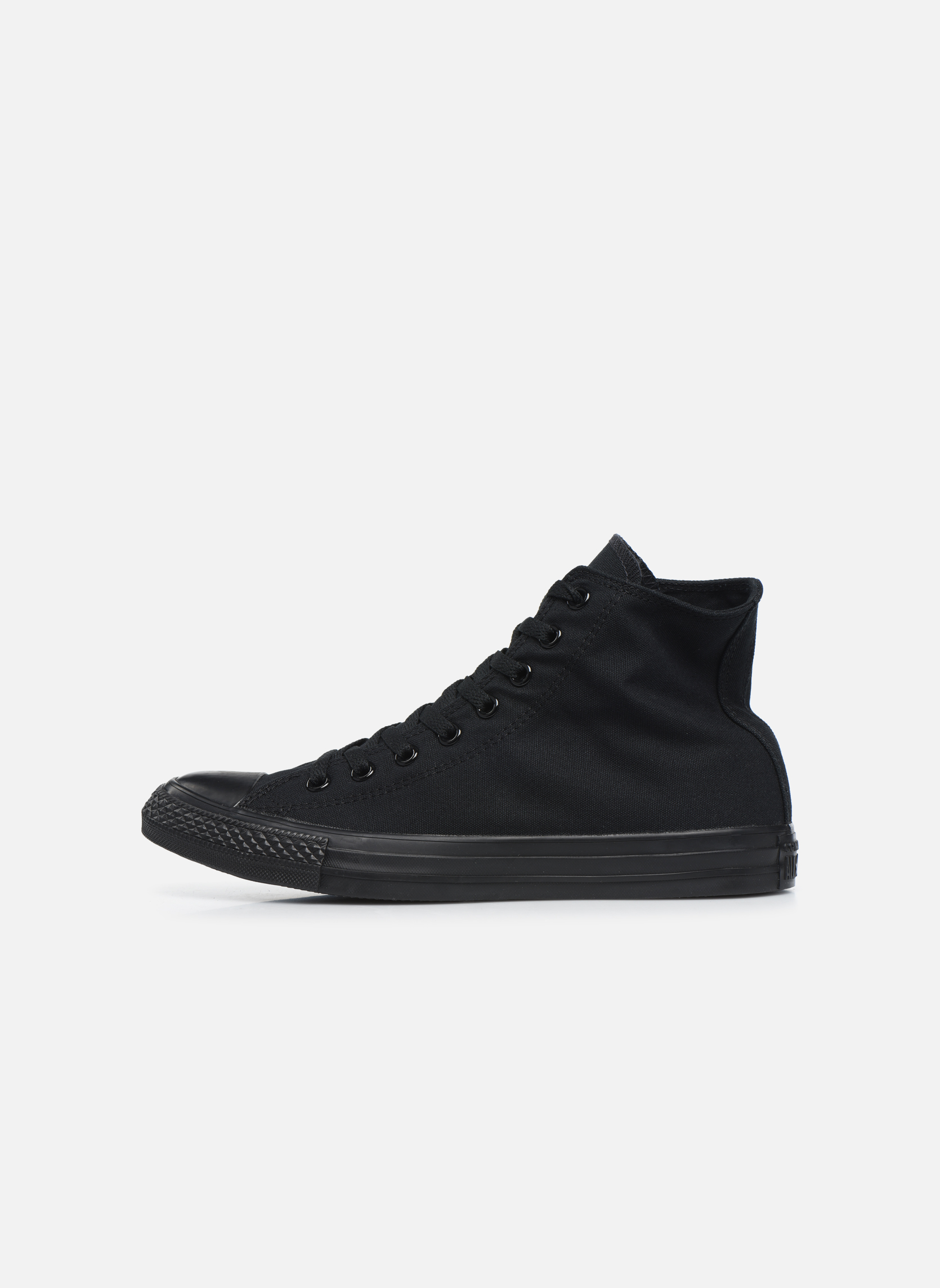 Trainers Converse Chuck Taylor All Star Monochrome Canvas Hi M Black front view