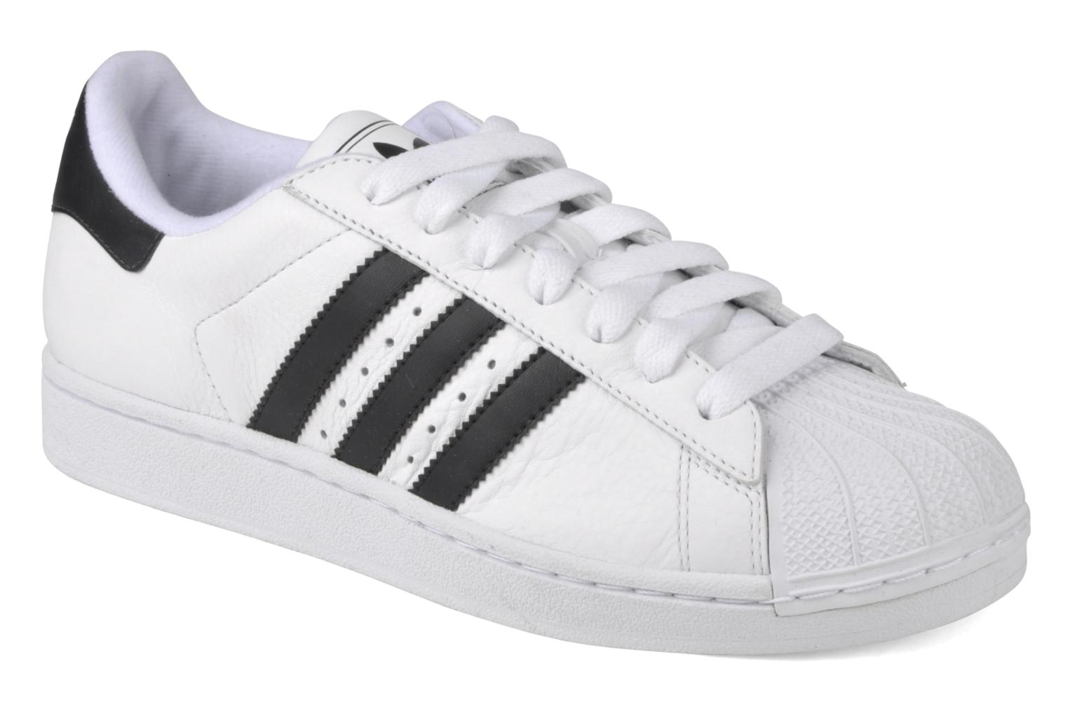 Baskets Adidas Originals Superstar II Blanc vue détail/paire