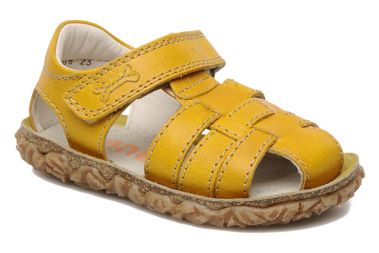 Sandales et nu-pieds Stones and Bones Raxi Jaune vue détail/paire