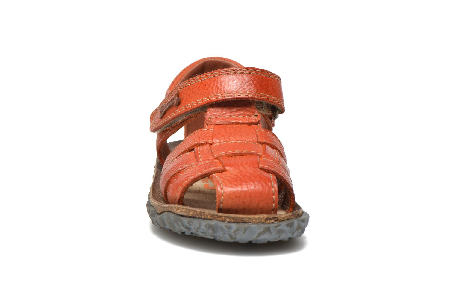 Sandalen Stones and Bones Raxi orange schuhe getragen