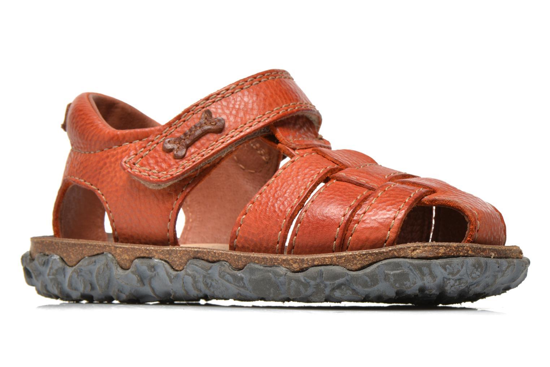 Sandals Stones and Bones Raxi Orange back view