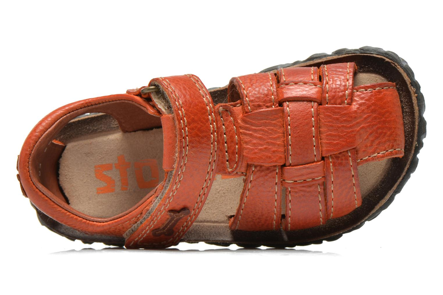 Sandalen Stones and Bones Raxi orange ansicht von links