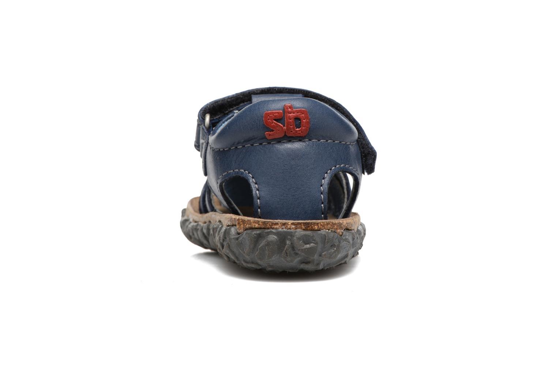 Sandales et nu-pieds Stones and Bones Raxi Bleu vue droite
