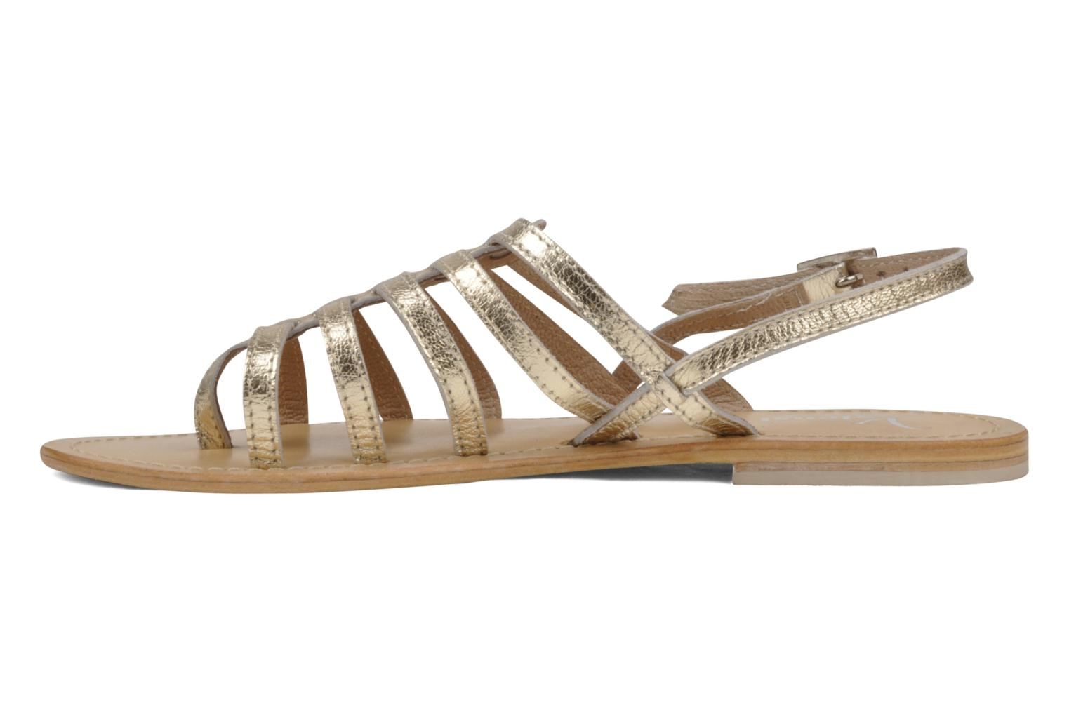 Sandals Valensi Spinata Bronze and Gold front view