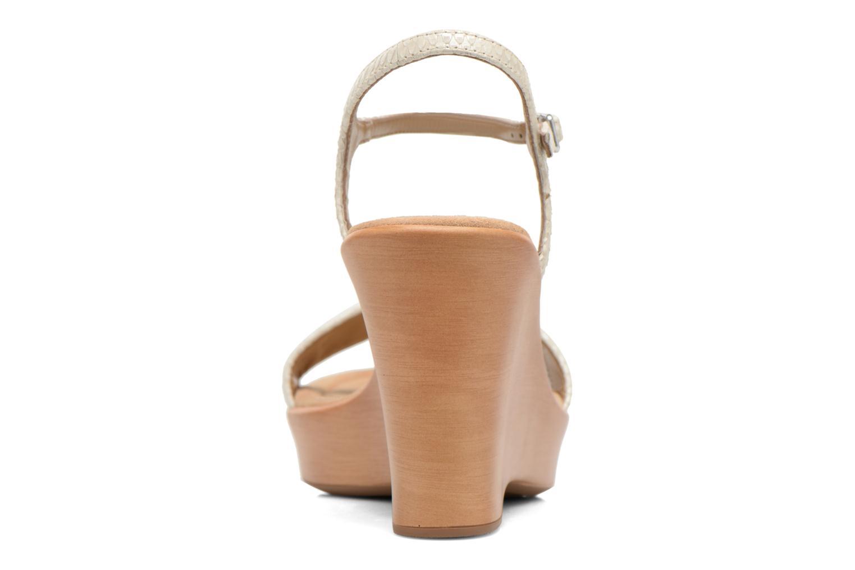 Sandales et nu-pieds Unisa Rita Blanc vue droite