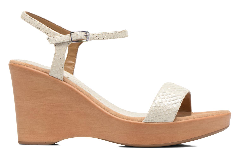 Sandales et nu-pieds Unisa Rita Blanc vue derrière