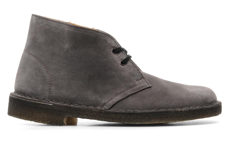 Chaussures à lacets Clarks Desert Boot W Gris vue derrière