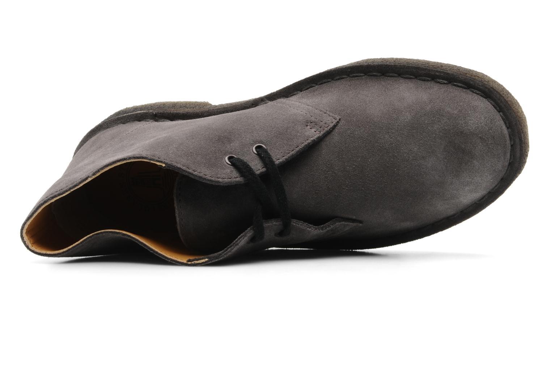 Chaussures à lacets Clarks Desert Boot W Gris vue gauche