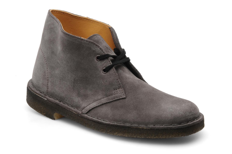 Chaussures à lacets Clarks Desert Boot W Gris vue détail/paire