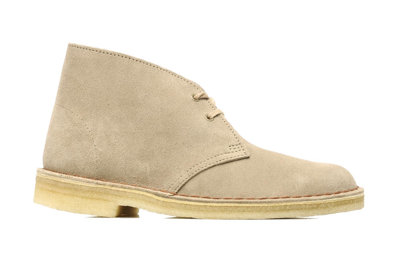 Chaussures à lacets Clarks Desert Boot W Beige vue derrière