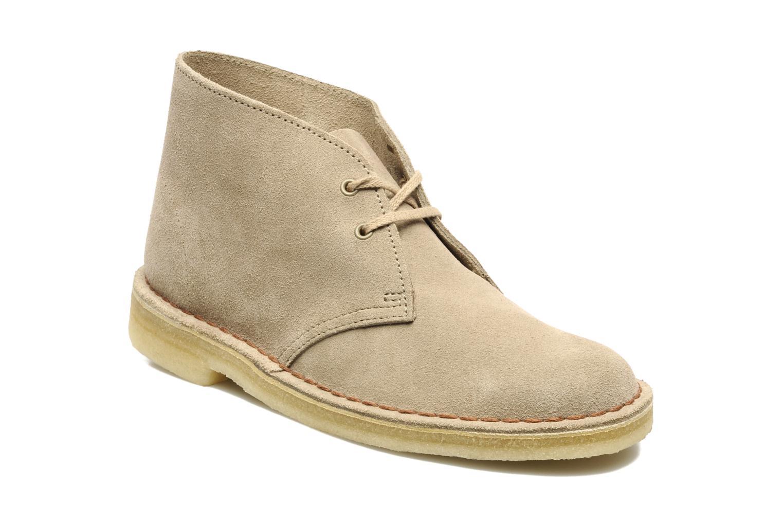 Chaussures à lacets Clarks Desert Boot W Beige vue détail/paire