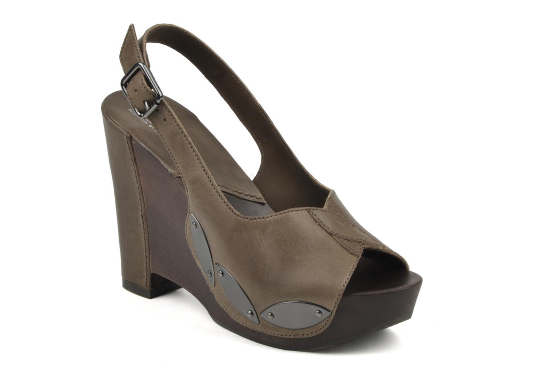 Sandaler Belle Melania Brun detaljeret billede af skoene