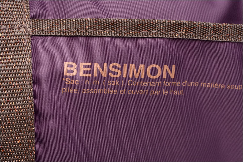 Sporttaschen Bensimon Color Bag lila ansicht von links