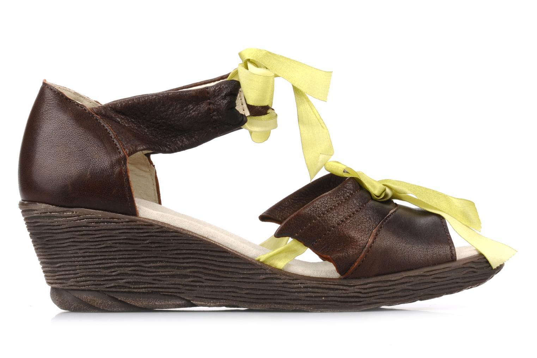 Sandales et nu-pieds Dkode Jeospi Marron vue derrière
