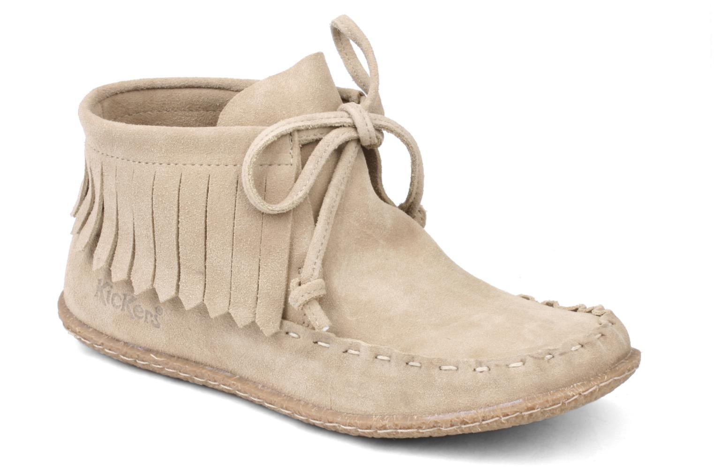 Bottines et boots Kickers Mohican Beige vue détail/paire