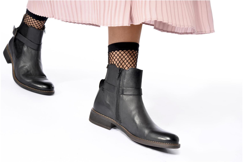 Bottines et boots Kickers Smack Noir vue bas / vue portée sac