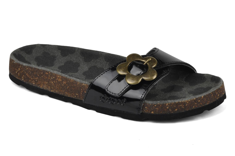 Sandales et nu-pieds Kickers Magma Noir vue détail/paire