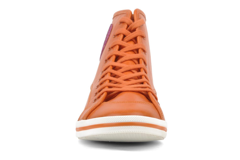 Baskets Buffalo Peace Orange vue portées chaussures