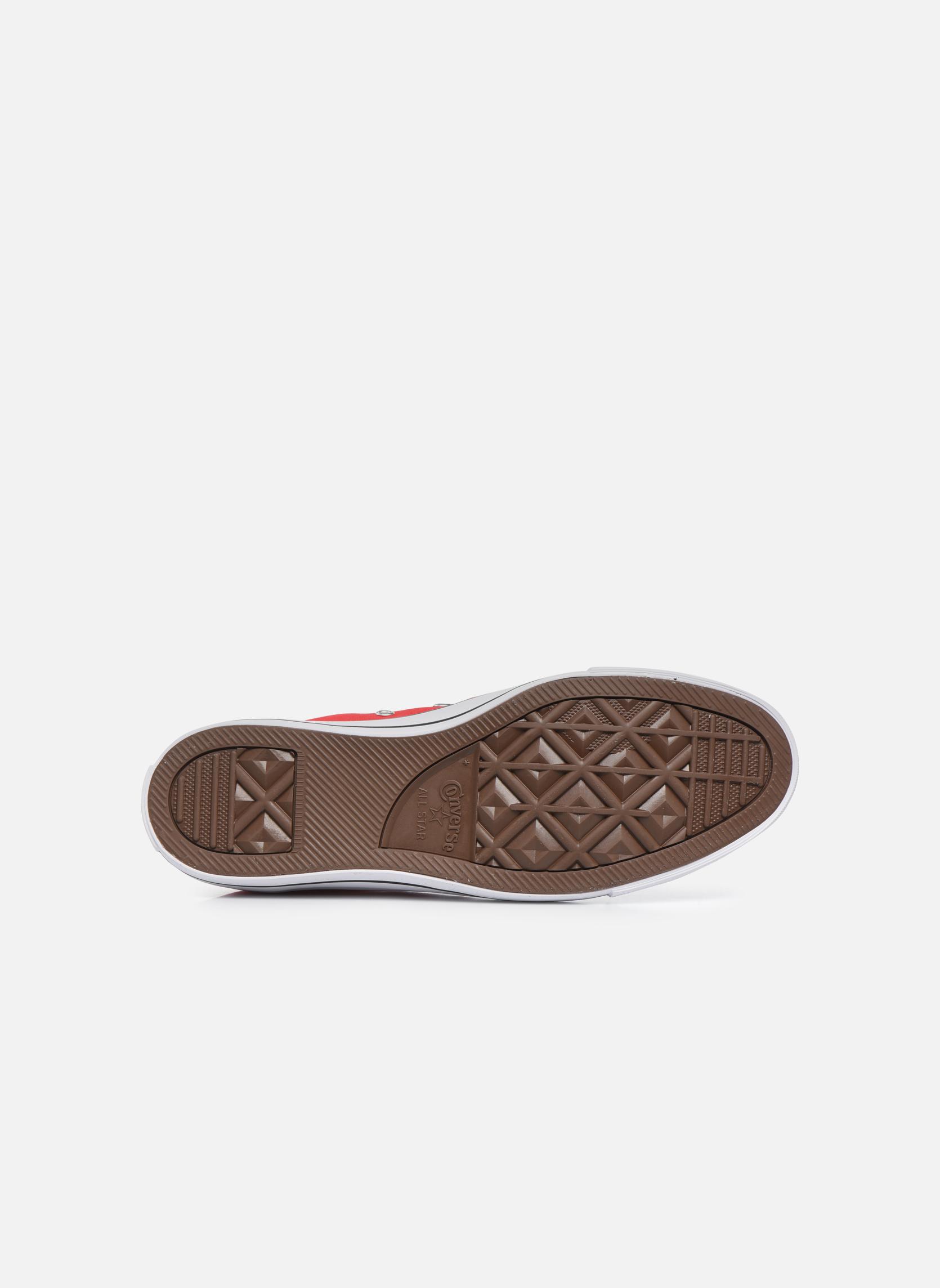 Sneakers Converse Chuck Taylor All Star Hi M Rosso immagine dall'alto