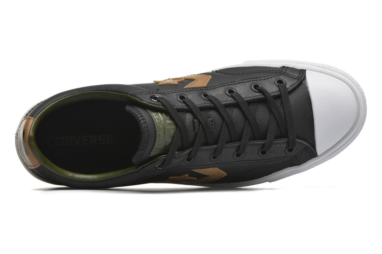 Sneaker Converse Star Player Cuir Ev M schwarz ansicht von links