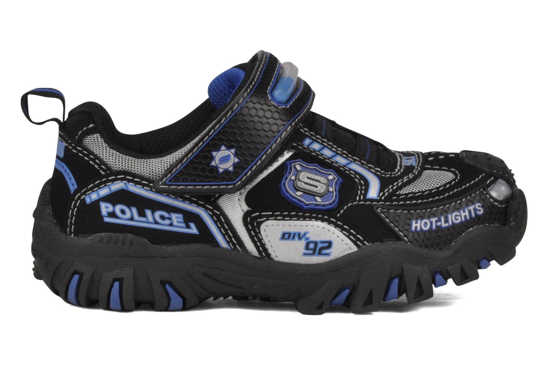 Sneaker Skechers Police schwarz ansicht von hinten