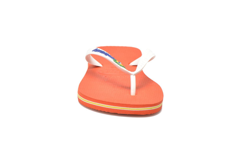 Tongs Havaianas Brazil Logo H Blanc vue portées chaussures