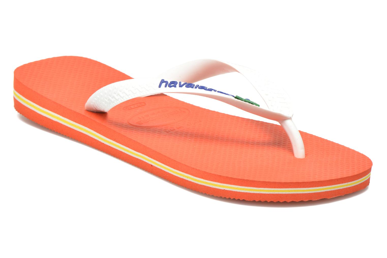 Flip flops Havaianas Brazil Logo H White detailed view/ Pair view