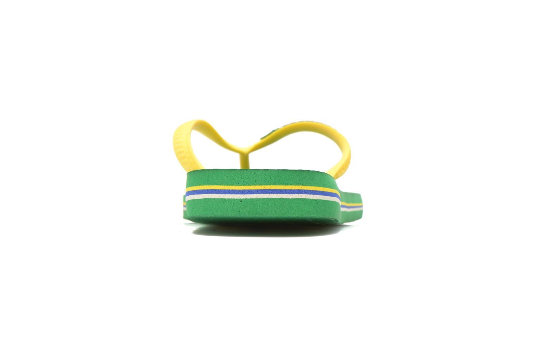 Tongs Havaianas Brazil Logo H Vert vue droite