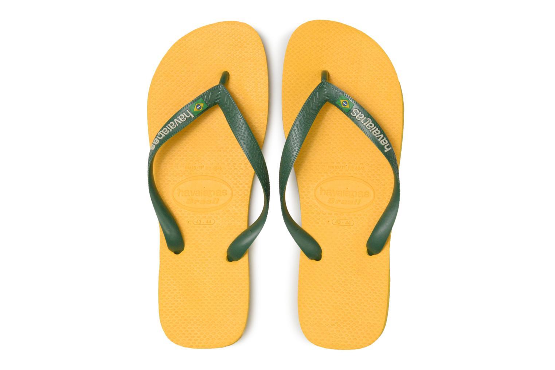 Flip flops & klipklapper Havaianas Brazil Logo H Gul se skoene på