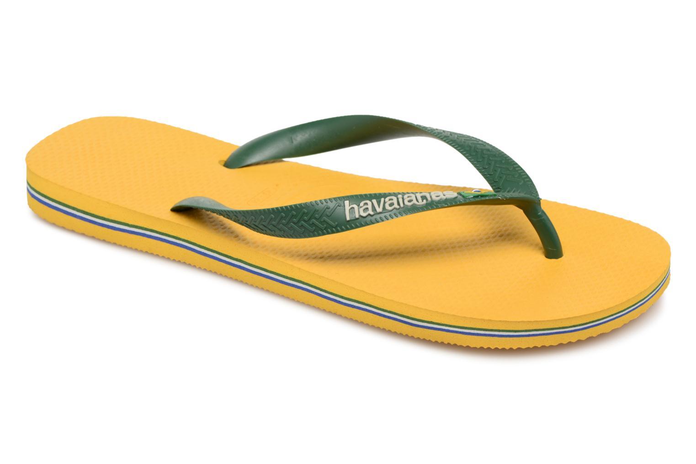 Flip flops & klipklapper Havaianas Brazil Logo H Gul detaljeret billede af skoene