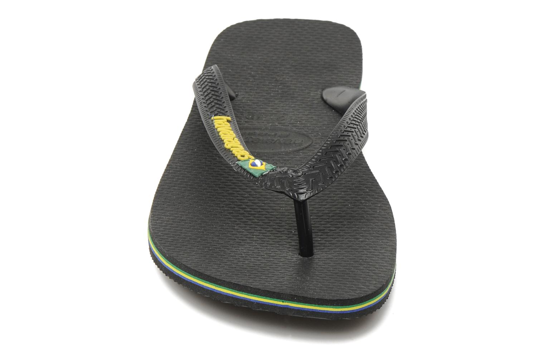 Tongs Havaianas Brazil Logo H Noir vue portées chaussures