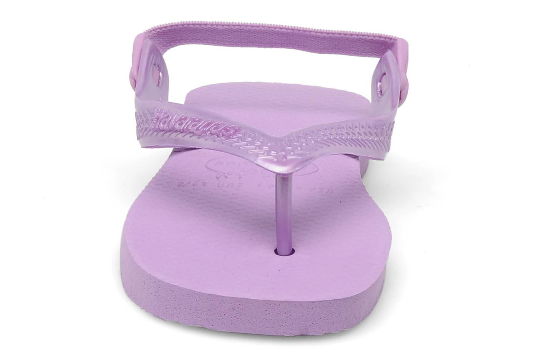 Tongs Havaianas TOP BABY Violet vue portées chaussures