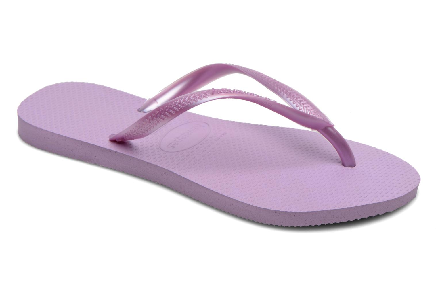 Tongs Havaianas Kids Slim Violet vue détail/paire