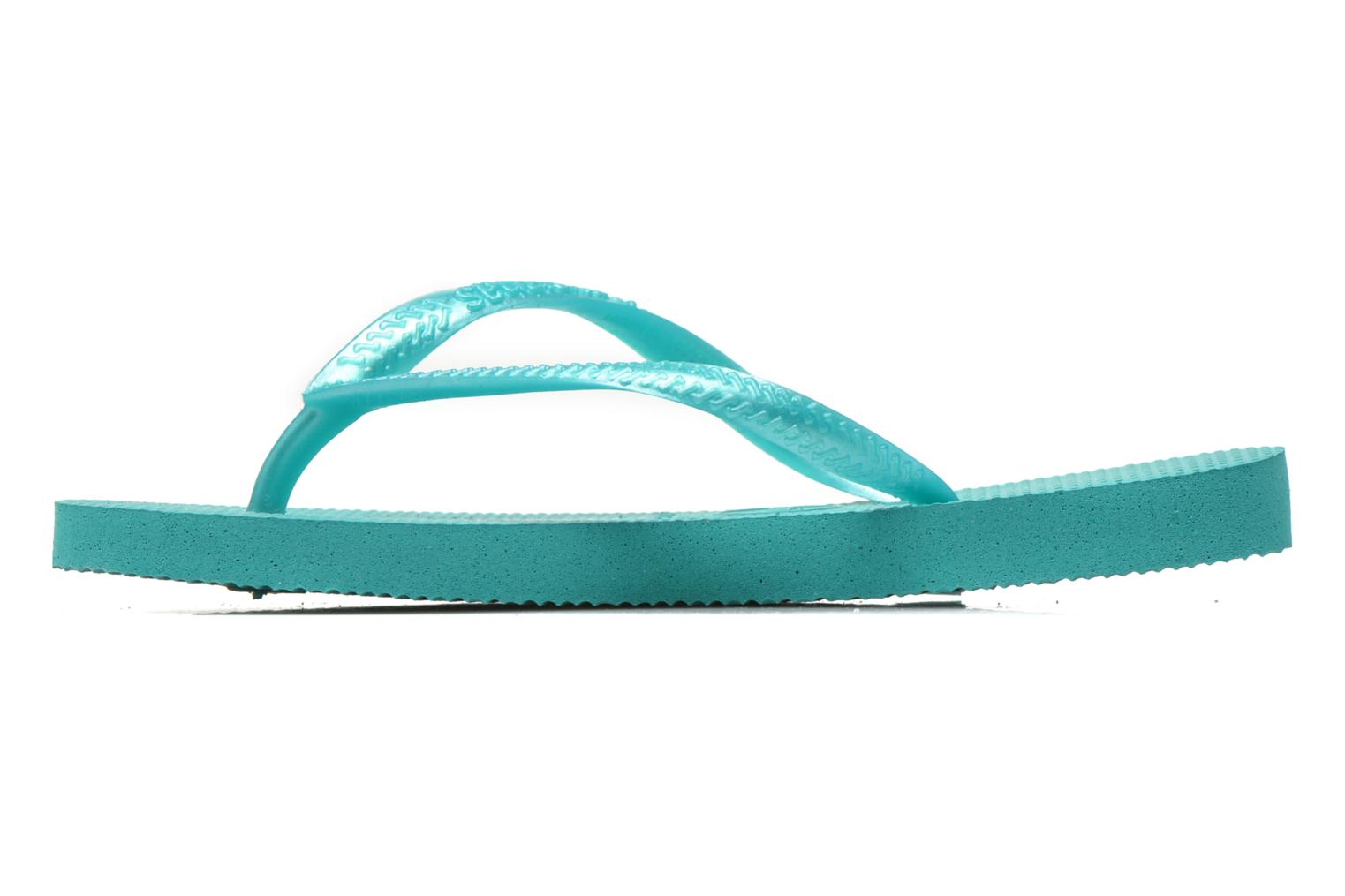 Tongs Havaianas Kids Slim Vert vue face