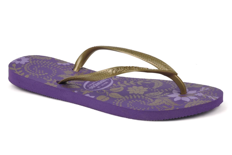 Flip flops Havaianas Slim Season Femme Purple detailed view/ Pair view