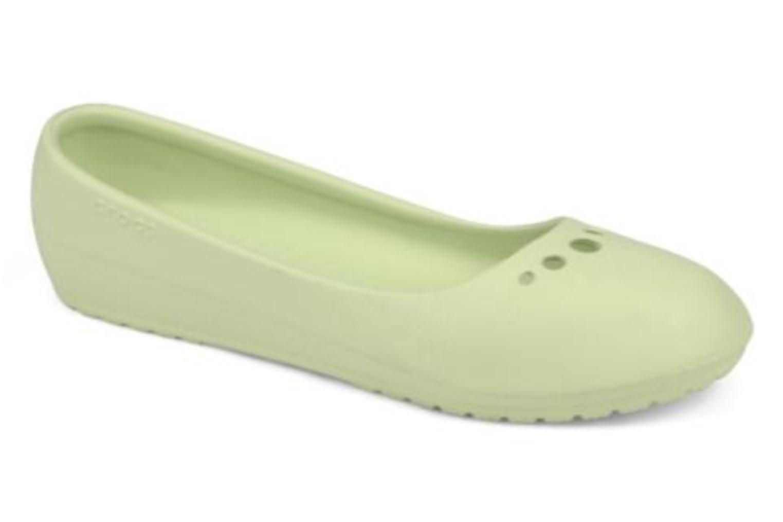 Ballerina Crocs Prima Grön detaljerad bild på paret