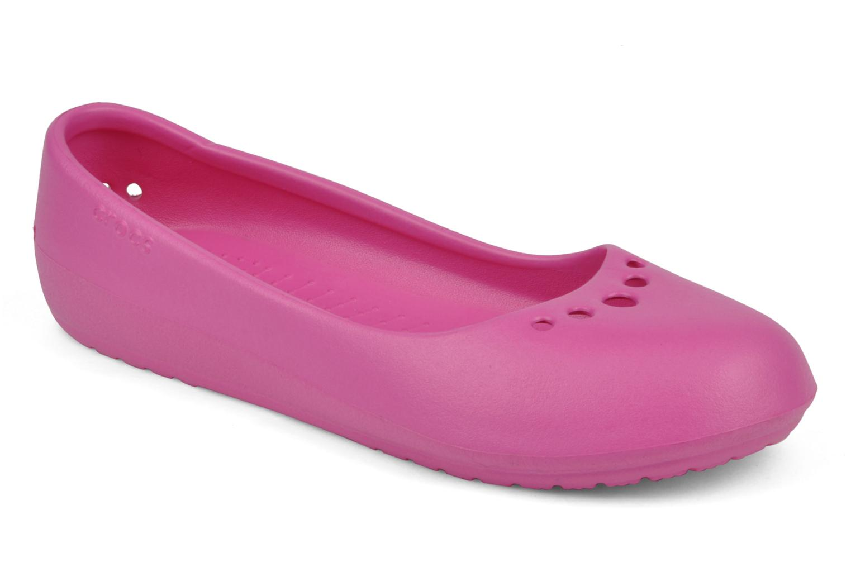 Ballet pumps Crocs Prima Pink detailed view/ Pair view