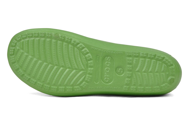 Ballerines Crocs Prima Vert vue haut