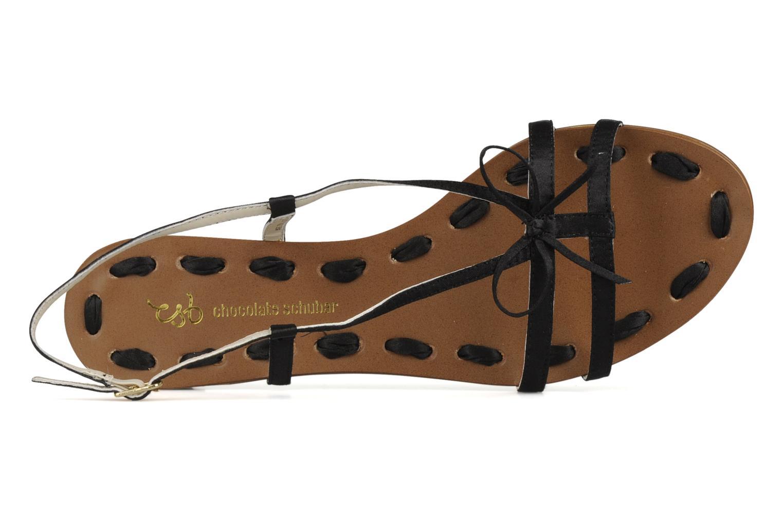 Sandalen Chocolate Schubar Schu-Schu schwarz ansicht von links