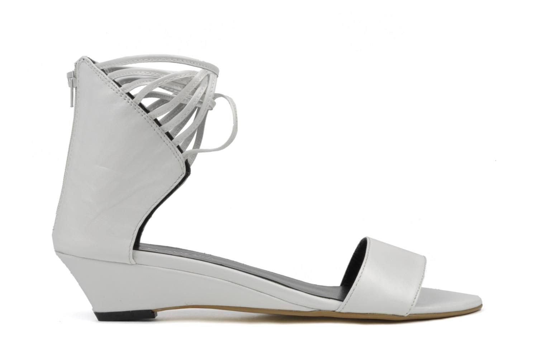 Sandales et nu-pieds Eden Evangelina Blanc vue derrière