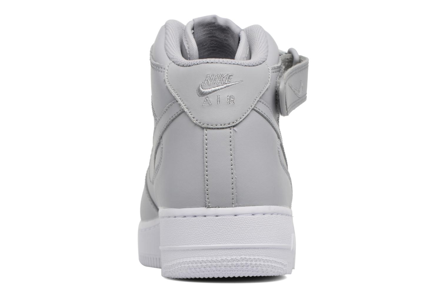 Trainers Nike Air Force 1 Mid Grey view from the right