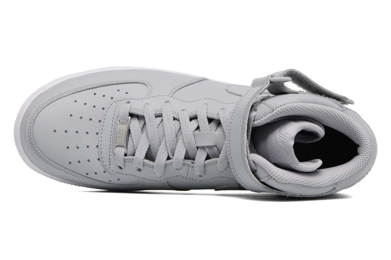 Deportivas Nike Air Force 1 Mid Gris vista lateral izquierda
