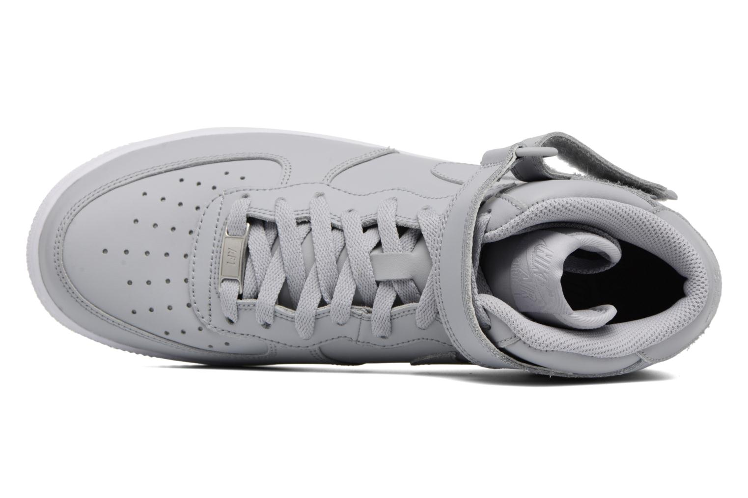 Trainers Nike Air Force 1 Mid Grey view from the left