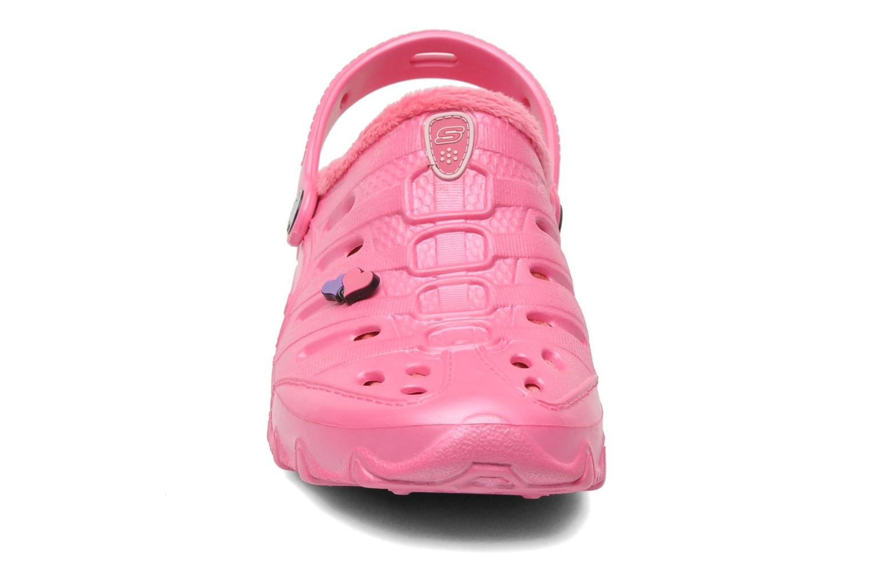 Sandalen Skechers Cali Gear Darling E rosa schuhe getragen