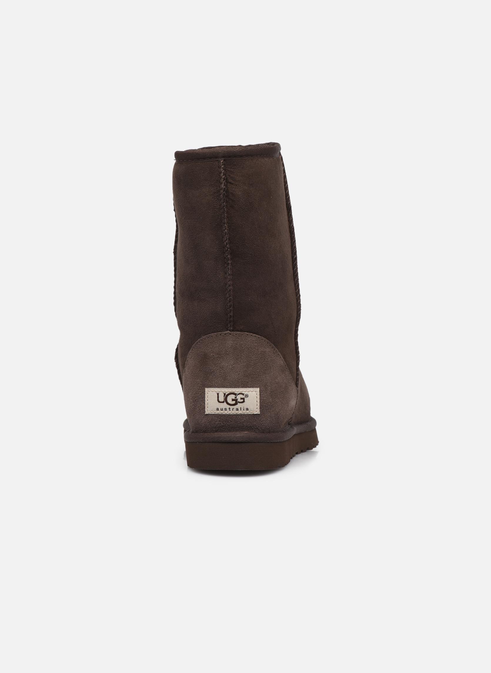Boots en enkellaarsjes UGG Classic Short M Bruin rechts