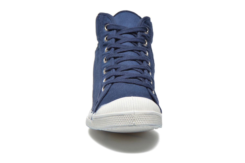 Baskets Bensimon Tennis Mid H Bleu vue portées chaussures