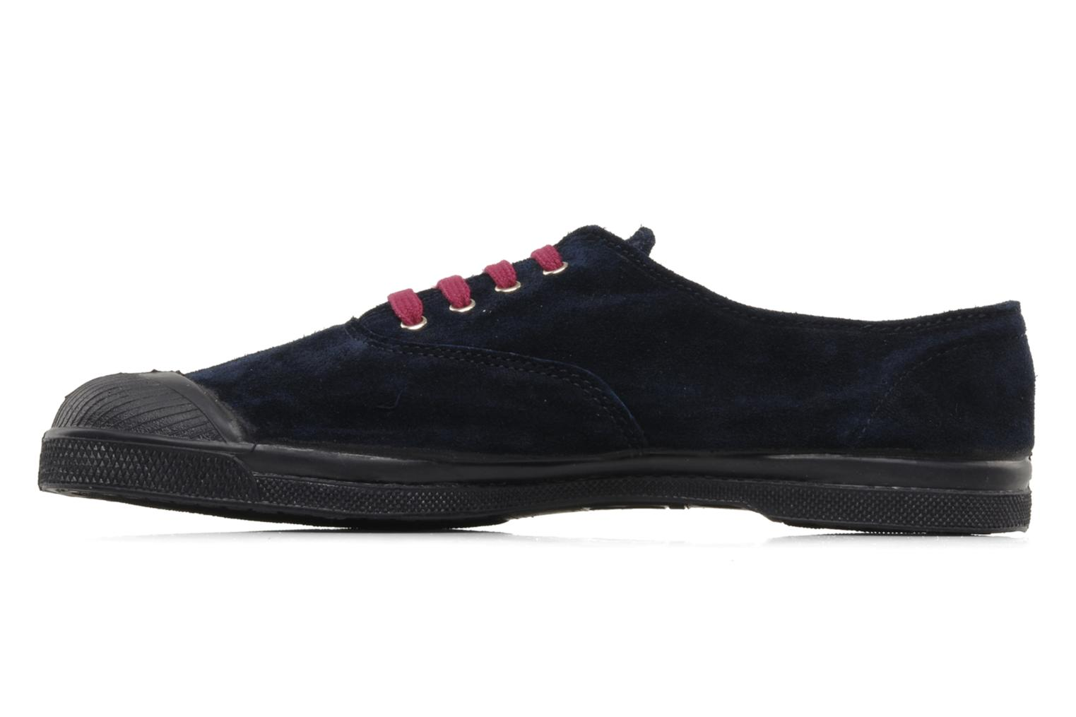 Trainers Bensimon Tennis Suede H Blue front view