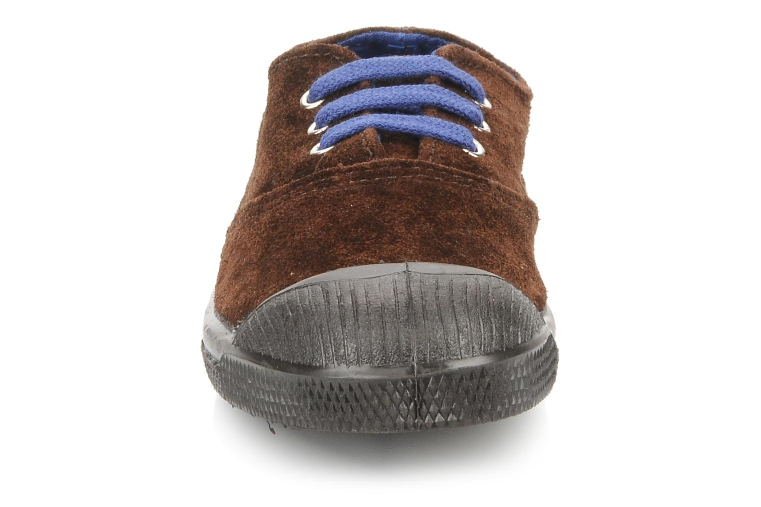 Trainers Bensimon Tennis Suede E Brown model view